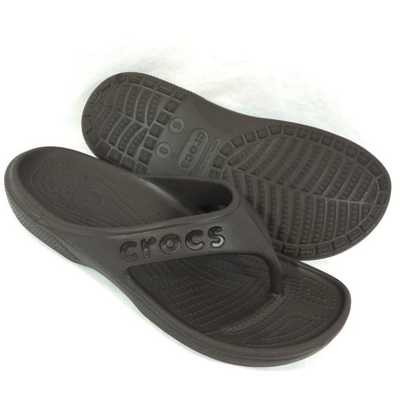 7f1378baa77ed CROCS Shoes - Crocs Baya Flip Flops Unisex Sandals Brown